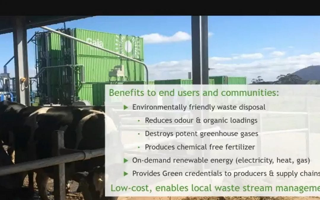 Sandy Gray profiles the Gaia EnviroTech anaerobic biodigester modular technology